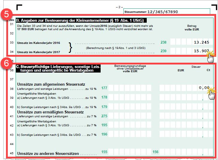 das wars auch schon mehr umsatzsteuer angaben verlangt das finanzamt von kleinunternehmern nicht wie die ausgefllte umsatzsteuererklrung elektronisch - Einnahmen Uberschuss Rechnung Beispiel